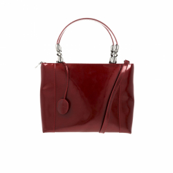 Christian Dior handbag in bordeaux enamelled leather