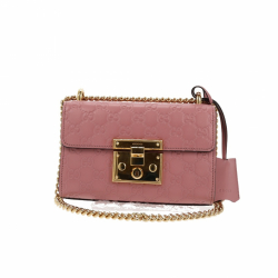 Gucci Padlock small embossed leather shoulder bag