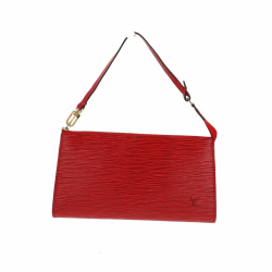 Louis Vuitton Pochette in red Epi leather