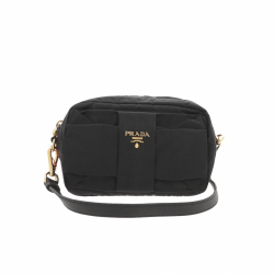 Prada Nylon Bow Camera Crossbdody bag