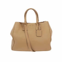 Prada Shoulder bag in beige leather