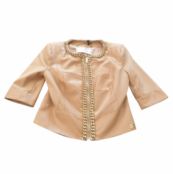 Elisabetta Franchi Jacket with gold chains