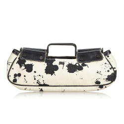 Burberry Printed Straw Handbag
