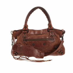 Balenciaga First Handbag in brown leather.