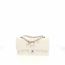 Chanel Timeless Double Flap Medium size Tweed bag