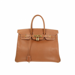 Hermès Birkin 35 Brown Epsom leather handbag.