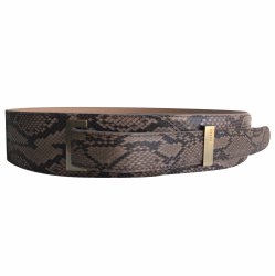Bally Python and leather belt