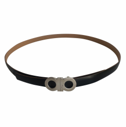 Salvatore Ferragamo Reversible belt in black or beige