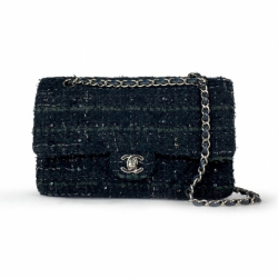 Chanel Tweed Medium Double Flap Bag