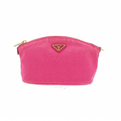 Prada Pouch in pink fabric.