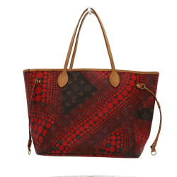 Louis Vuitton Limited Edition Rouge Yayoi Kusama Monogram Waves Neverfull MM Bag