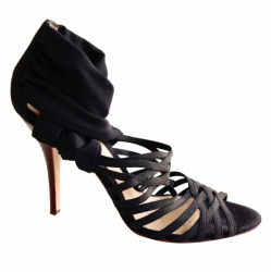 Fendi Black pumps in elastic and tulle
