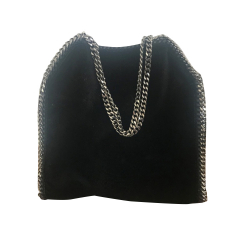 Stella McCartney Falabella Small Tote Velvet black