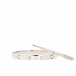 Cartier Love bracelet in white gold.