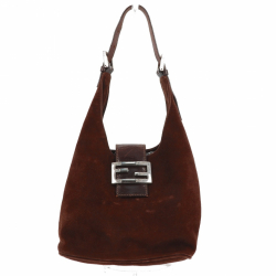 Fendi Shoulder bag in brown suede