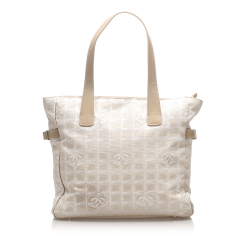 Chanel AB Chanel White Canvas Fabric New Travel Line Tote Bag France