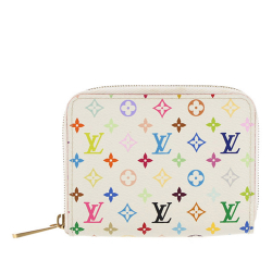 Louis Vuitton B Louis Vuitton White Monogram Canvas Canvas Monogram Multicolore Zippy Coin Pouch France