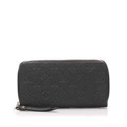 Louis Vuitton B Louis Vuitton Gray Calf Leather Monogram Empreinte Zippy Wallet France