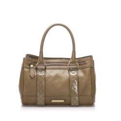 Burberry B Burberry Brown Calf Leather Handbag United Kingdom