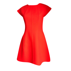 Kenzo Fluorescent coral dress
