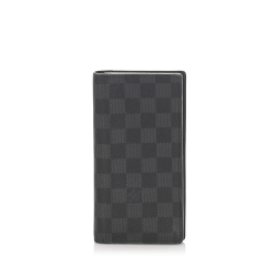 Louis Vuitton AB Louis Vuitton Black with Gray Damier Canvas Canvas Damier Graphite Brazza France