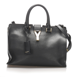 Saint Laurent AB YSL Black Calf Leather Cabas Chyc Satchel France