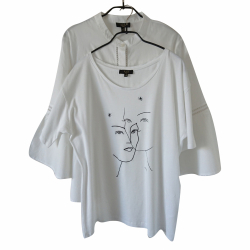123 Paris White blouse and T-shirt combo