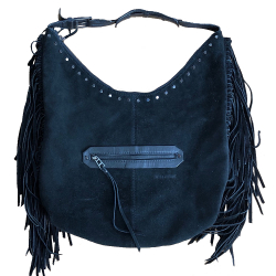 Zadig & Voltaire Black suede bag with frank