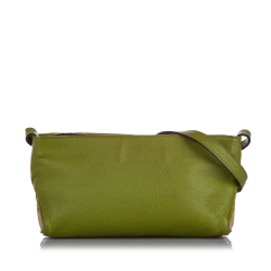 Burberry B Burberry Green with Multi Calf Leather Crossbody Bag ITALY