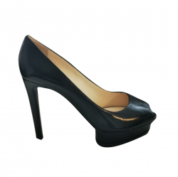 Giorgio Armani Black pumps with platform heel
