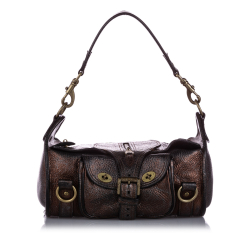 Mulberry B Mulberry Brown Dark Brown Calf Leather Shoulder Bag TURKEY