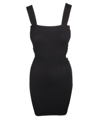 Alexander McQueen Black Open Dress
