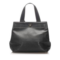 Chanel B Chanel Black Calf Leather Caviar Tote Bag France
