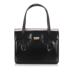 Gucci B Gucci Black Calf Leather Handbag Italy