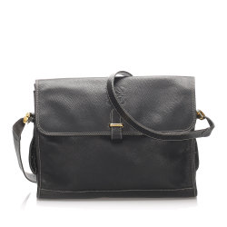 Loewe B Loewe Black Calf Leather Anagram Shoulder Bag Spain