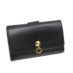 Fendi B Fendi Black Calf Leather By The Way Long Wallet Italy