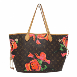 Louis Vuitton Limited Edition Louis Vuitton x Stephen Sprouse Neverfull Roses MM Shoulder Bag