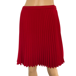 Tara Jarmon Red pleated skirt