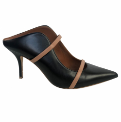 Malone Souliers Maureen Black and Nude pumps