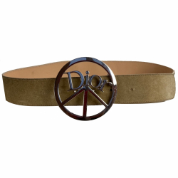 Christian Dior Peace and Love Suede Belt