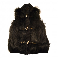 MICHAEL Michael Kors Faux Fur Sleeveless Jacket