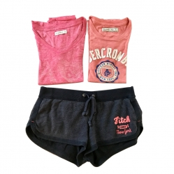 Abercrombie & Fitch Set (1 short + 2 t-shirts)