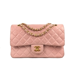 Chanel Timeless Double Flap Tasche in Pink