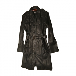 Pepe Jeans Leather Trench Coat
