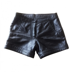 Barneys New York Leather Shorts