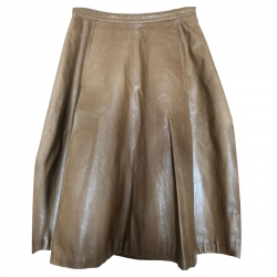 Gucci Vintage Leather Skirt