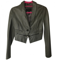 BCBG Max Azria Cropped Leather Jacket