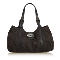 Fendi ON SALE!!! Zucchino Canvas Shoulder Bag
