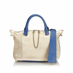 Chloé Perforated Leather Baylee Satchel