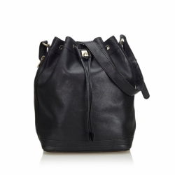 Céline Leather Bucket Bag